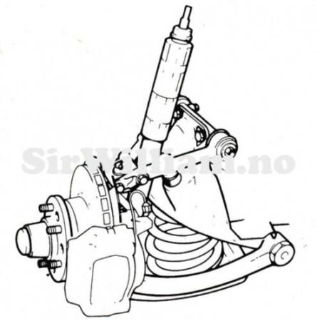 Hjuloppheng, drivaksler, differensial, hjul